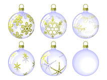 Christmas Baubles royalty free illustration