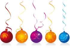 Christmas baubles. On the white background royalty free illustration