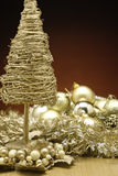 Christmas Baubles. Xmas Baubles and decorations on a table royalty free stock images