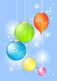 Christmas Baubles. Illustration of christmas baubles with snowflakes Stock Images