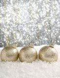Christmas baubles. With sparkling background Royalty Free Stock Photos