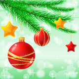 Christmas baubles vector illustration