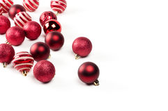 Christmas baubles. Over a white background Royalty Free Stock Photos