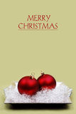 Christmas baubles. Christmas baubles, decorative background with greetings Stock Images
