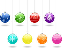 Christmas baubles Stock Images