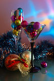 Christmas baubles . Royalty Free Stock Image