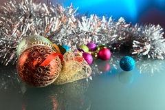 Christmas baubles . Royalty Free Stock Images