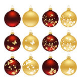 Christmas baubles. Set of christmas baubles. Vector illustration Royalty Free Stock Photos