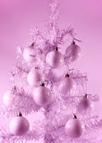 artificial Christmas tree Stock Images