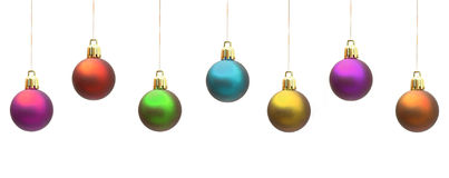 Christmas baubles. Isolated on white Royalty Free Stock Photo