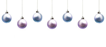 Christmas baubles. Isolated on white Royalty Free Stock Photos