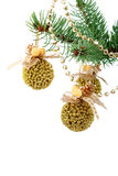 Christmas baubles. On a white background Royalty Free Stock Photo