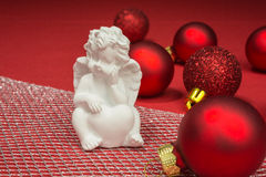 Christmas baubles with angel Royalty Free Stock Photography