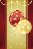 Christmas baubles background Royalty Free Stock Images