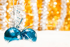 Christmas baubles background Stock Image
