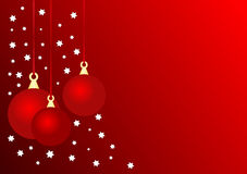 Christmas Baubles background Royalty Free Stock Image