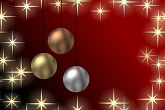 Christmas baubles background Stock Photography
