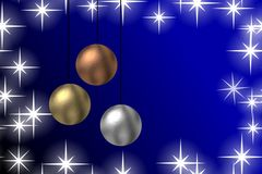 Christmas baubles background Royalty Free Stock Photography