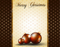 Christmas Baubles Background f Stock Photo