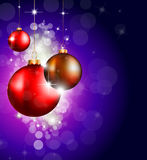 Christmas Baubles Background f Royalty Free Stock Photography