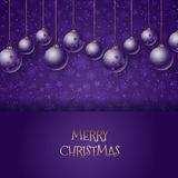 Christmas baubles background Royalty Free Stock Photos