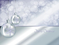 Christmas Baubles Background, Silver Royalty Free Stock Image