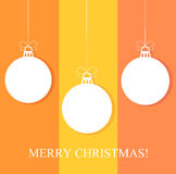 Christmas baubles background. Vector illustration Royalty Free Stock Images