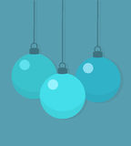 Christmas baubles. Background. Vector illustration Stock Photos