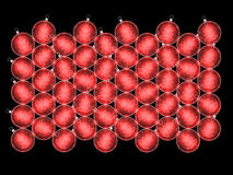 Christmas baubles. Christmas background for your design Stock Photography