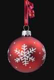 Christmas baubles on black background Royalty Free Stock Photography