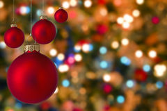 Christmas baubles with blur Stock Photo