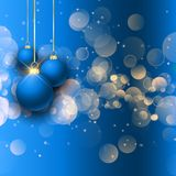 Christmas baubles on bokeh lights background. Christmas baubles on a bokeh lights background royalty free illustration