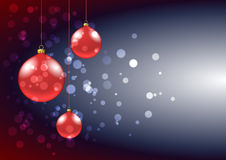 Christmas baubles card Royalty Free Stock Photography