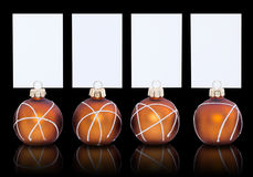 Christmas baubles and cards Royalty Free Stock Photos