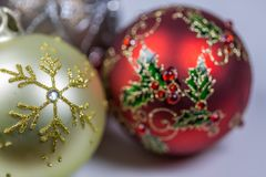 Christmas Baubles.Close Up Royalty Free Stock Photos