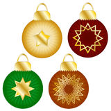 Christmas Baubles Collection Royalty Free Stock Photo