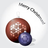 Christmas baubles color eps10 Royalty Free Stock Photography