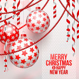 Christmas baubles and decor Stock Images