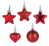 Christmas baubles and decor Royalty Free Stock Image
