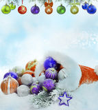 Christmas baubles decoration background Stock Photography