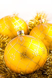 Christmas baubles decoration Stock Photos