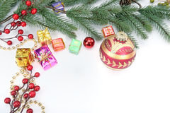 Christmas baubles Decorations Royalty Free Stock Photos