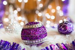 Christmas baubles with decorations Royalty Free Stock Images
