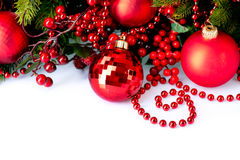Christmas Baubles and Decorations Stock Image