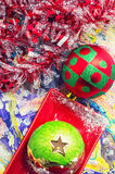 Christmas baubles and decorations Royalty Free Stock Images