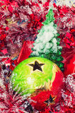 Christmas baubles and decorations Royalty Free Stock Photos
