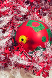 Christmas baubles and decorations Stock Images