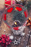 Christmas baubles and decorations Royalty Free Stock Photo