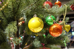 Christmas baubles Decorations Royalty Free Stock Photo