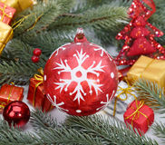 Christmas baubles Decorations Royalty Free Stock Image